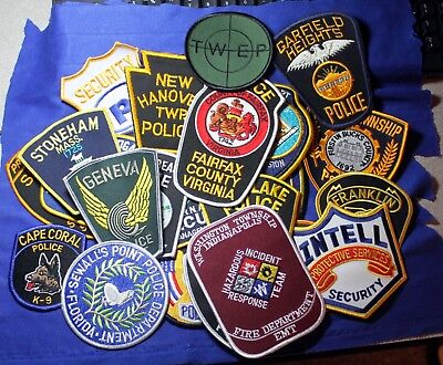 25 New Condition - Most Vintage - Police and Security Department Patches