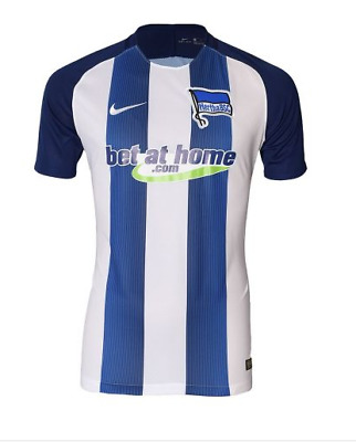 HERTHA BERLIN Mens Blue & White Nike 2016/17 Football Shirt Top Small S BNWT