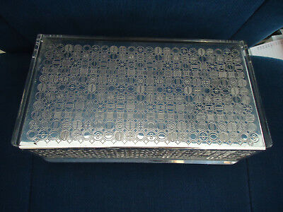 WMF S-collection Schatulle Schachtel Dose Acryl & Silver Plate Box 1960s vintage