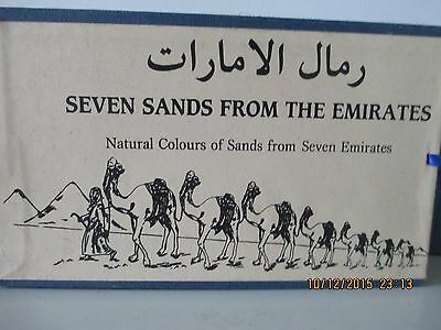 Seven Sands From The Emirates, Made In U.a.e.,shifting Colors