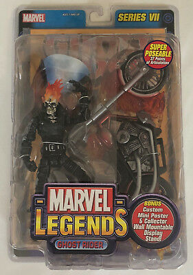 GHOST RIDER ACTION FIGURE MARVEL LEGENDS SERIES VII 7 Toy Biz Comic Flame Cycle
