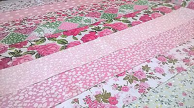 10 x Baby Girl Fabric Jelly Roll Strips Patchwork Quilting