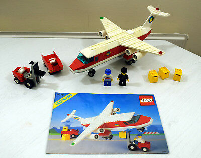 Lego Town Trans Air Carrier Cargo Plane 6375 Complete With
