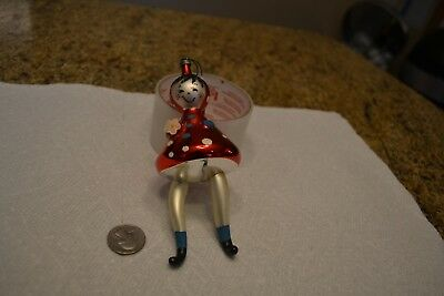 Vintage Italian Glass Christmas Ornament Italy Little Red Riding Hood