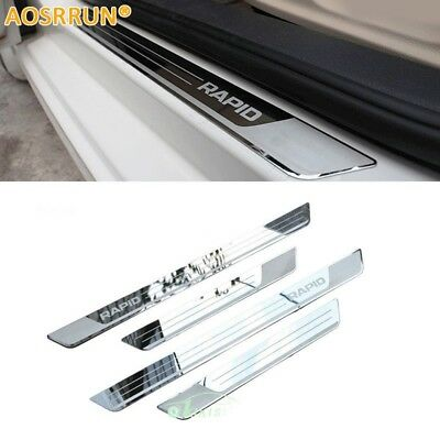 Stainless Steel Door Sill Scuff Plate car accessories Car-styling For Sko