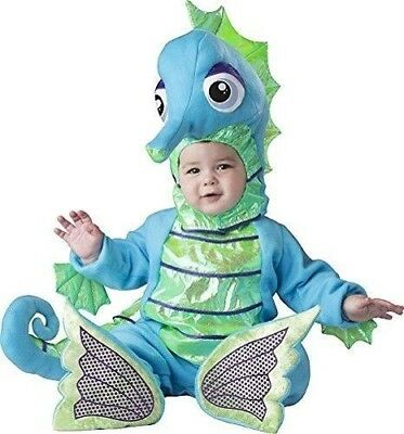 d899e6def7186 InCharacter Silly Seahorse Fish Animal Infant Baby Halloween Costume size  6-12M