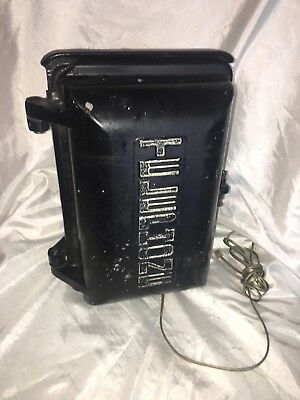 Vintage ALLEN tel products TELEPHONE FIRE POLICE ALARM CALL BOX  Aluminum Sign