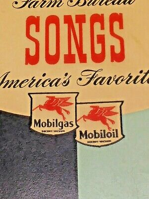 Vintage MOBILGAS / MOBILOIL Sponsored Farm Bureau Song Book.  1942 - Rare?