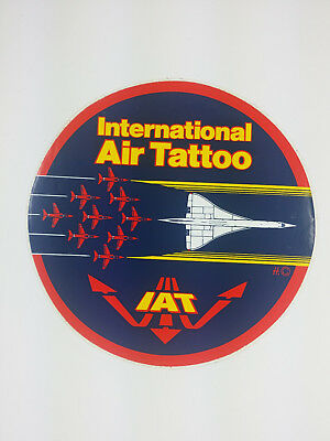 International Air Tattoo RAF RED ARROWS - Concorde Decal / Sticker IAT
