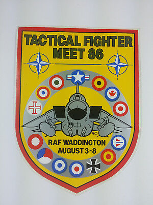 1986 Tactical Fighter Meet RAF Waddington Decal / Sticker