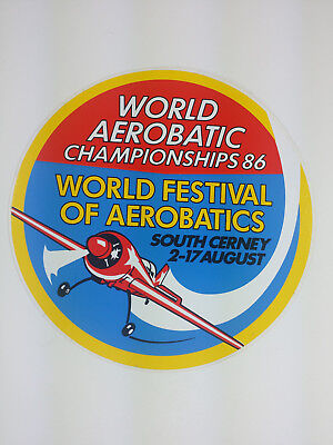 1986 World Aerobatic Championship South Cerney Decal / Sticker