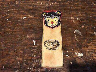 Vintage New Hampshire Bear Comb Case/Pencil Case Old Man Of The Mountain