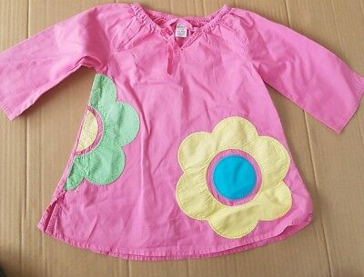 Mini Boden Girl's Tunic Kaftan Summer Top Excellent Used Condition 12-18 months
