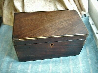Old Antique Georgian English Mahogany Wooden Tea Caddie Box c.1800 For Repair
