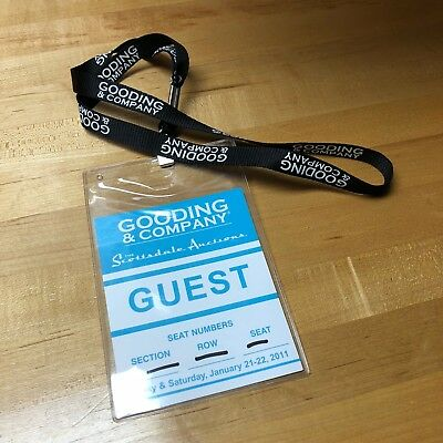Gooding and Company Scottsdale Auction Lanyard and Guest Pass