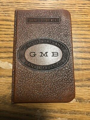GMB Genesee Merchants Bank & Trust Co - Flint Michigan - Hardback Savings Book