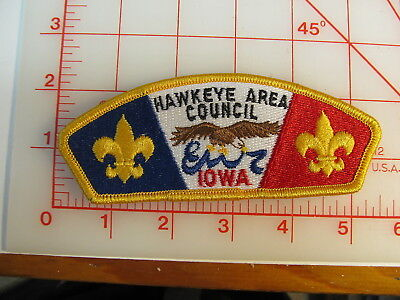 Hawkeye Area Council CSP collectible  plastic back patch (oR)