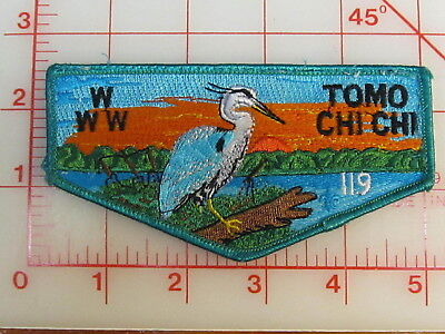 OA Lodge 119 TOMO CHI CHI S6 turquoise border sewn collectible patch (oA)