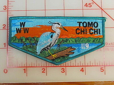 OA Lodge 119 TOMO CHI CHI S6 turquoise border unused collectible patch (oA)