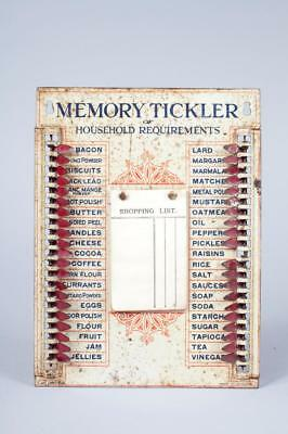 """Vintage c1920 """"Memory Tickler of Household Requirements""""~ Wants Indicator Board"""