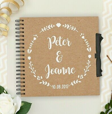 Personalised Wedding Guestbook Scrapbook | Photo Album | book Polaroid Memories