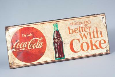 "Vintage - Original c1960 ~ ""Coke"" Tin Sign"