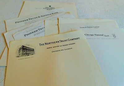 Rare! 1930's Unused Letterheads Chicago Banks - Northern Trust