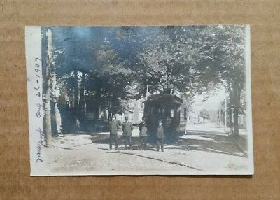 End of Jersey Shore Electric Railway,Main St.Jersey Shore,Pa.,RPPC,1907