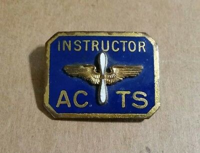 Instructor Badge,ACTS (U.S. Army Air Corps Training School) WWII 1941-45
