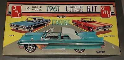 VINTAGE AMT 3in1 MODEL KIT # 149 FORD 1961 FORD CONVERTIBLE  ( EMPTY BOX ) ONLY