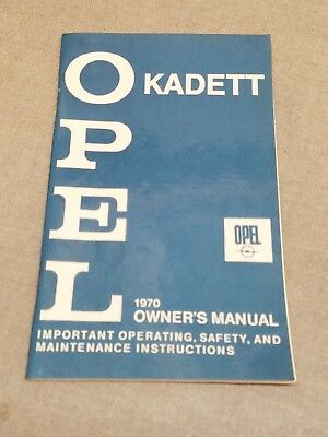 1970 Opel Kadett Owner's Manual
