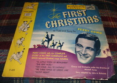 78rpm Christmas RCA Victor 5290 PERRY COMO - The First Christmas - 1950s