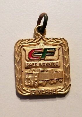 CF CONSOLIDATED FREIGHT 5 Year SAFE WORKING TRUCK DRIVER Award CHARM Jostens