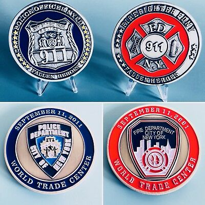 NYPD FDNY 9/11 Commemorative Coins Challenge Coins FREE Shipping