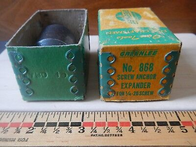 GREENLEE  No. 868 Screw Anchor Expander For 1/4-20 SCREW + BOX