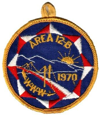 BOY SCOUTS OA Conclave AREA 12B 1970 Section BSA PATCH BADGE
