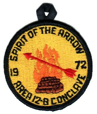 BOY SCOUTS OA Conclave AREA 12B 1972 Section BSA PATCH BADGE