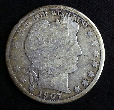 1907 O Barber Silver Half Dollar ☆☆ Nice Circulated Half ☆☆