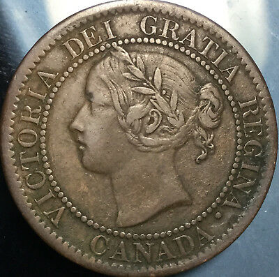 1859 CANADA LARGE 1 CENT PENNY - In great details!