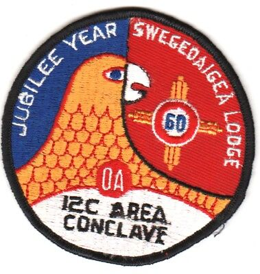 BOY SCOUTS OA Conclave AREA 12C 1960 Section BSA PATCH BADGE