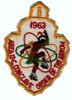 BOY SCOUTS OA Conclave AREA 12C 1963 Section BSA PATCH BADGE