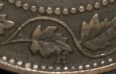 1898 CANADA LARGE 1 CENT PENNY - High H variety - Very keydate!