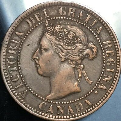 1900H CANADA LARGE 1 CENT PENNY - Great penny in Excellent details!