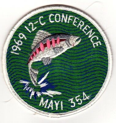 BOY SCOUTS OA Conclave AREA 12C 1969 Section BSA PATCH BADGE