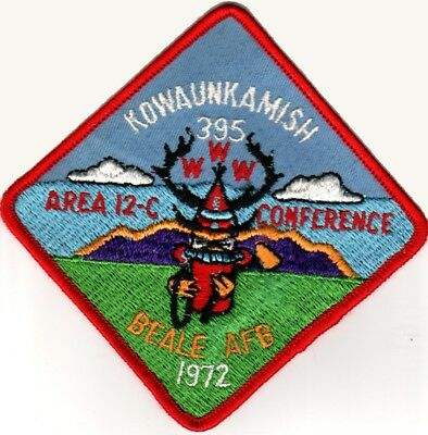 BOY SCOUTS OA Conclave AREA 12C 1972 Section BSA PATCH BADGE