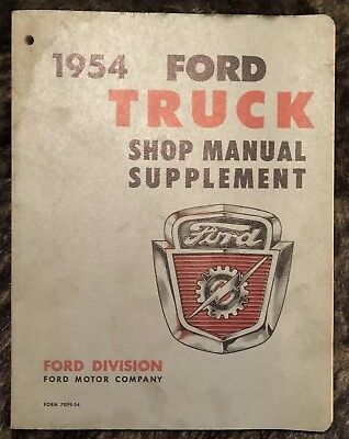 1954 Ford Truck Shop Manual Supplement Book
