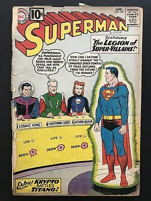 SUPERMAN COMIC #147. DC. Silver Age. 1961. KRYPTO ISSUE. Free Shipping