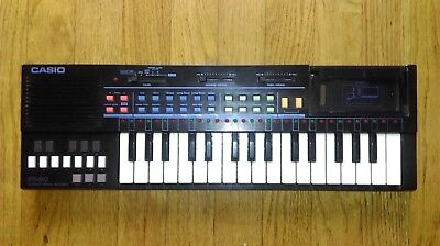 Casio PT-80 Retro Keyboard Synth RARE BLACK | Drum Machine | Tasted and Working