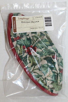 Longaberger Fabric Liner For Holiday Helper Basket Or Stuck On You In Holly