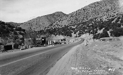 Rppc Postcard The Oasis Gas Station Tijeras Canyon New Mexico Route 66 Conoco Nm